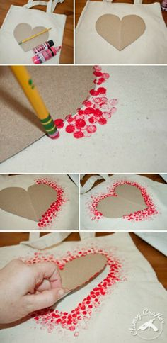 Heart stencil outline - would be cute embroidered too.