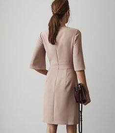 Our range of trendy clothing is available online and instore. Shop our stylish contemporary womenswear ran Wrap Front Dress, Wrap Dress, Runway Fashion, High Fashion, Womens Fashion, English Dress, Reiss Dresses, Trendy Outfits, Fashion Outfits
