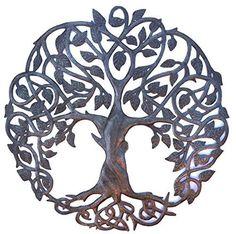 "**New Design** Tree of Life, Metal Wall Art, Fair trade from Haiti, 23"" X 23"" it's cactus - metal art haiti http://www.amazon.com/dp/B0155G6JYO/ref=cm_sw_r_pi_dp_7eyYwb022S5KW"