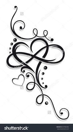 Tribal Heart with large infinity loop.Tribal Heart with large infinity loop. Name Tattoos, Wrist Tattoos, Body Art Tattoos, Sleeve Tattoos, Cross Foot Tattoos, Tribal Heart Tattoos, Tribal Tattoos For Women, Tattoos Skull, Arrow Tattoos