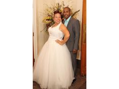 Plus size wedding dresses with a ball gown skirt and a halter neckline can be made.  See other #plussizeweddingdresses for consideration at http://www.dariuscordell.com/featured_item/plus-size-wedding-dresses-bridal-gowns/
