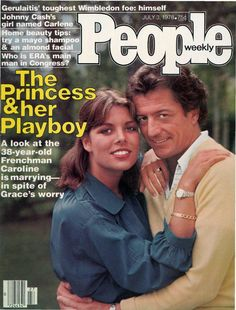 """Vintage People Magazine Princess Caroline July 3 1978  Date Published: July 3, 1978 Cover Feature Photo: The Princess & Her Playboy  COVER STORY The Princess & Her Playboy Caroline Weds the Dashing Philippe Junot, A Man 17 Years her Senior and """"Volumes of Conquests""""."""