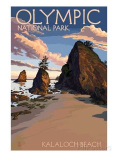 Kalaloch Beach - Olympic National Park, Washington Posters by Lantern Press at AllPosters.com