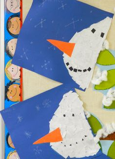 that artist woman: How to make a Snowman Banner (I pinned for this torn paper snowman I can see using with my younger children)