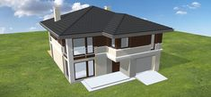 Projekt domu Tytan 134,26 m2 - koszt budowy 134 tys. zł - EXTRADOM Gazebo, House Plans, Outdoor Structures, How To Plan, Outdoor Decor, Home Decor, Architectural Plants, Houses, Roofing Companies