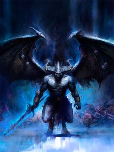 Be'lakor - Warhammer - The Old World Fantasy Demon, Fantasy Battle, Demon Art, Fantasy Races, Dark Fantasy, Warhammer 40k Art, Warhammer Fantasy, Chaos Daemons, Horror Pictures