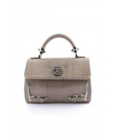 Philipp Plein - 'Reptile' Small Handbag Grey