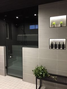 Modern Bathroom Design, Bathroom Interior, Interior Design Living Room, Interior Decorating, Sauna Design, Inside A House, Sauna Room, Laundry Room Bathroom, Home Spa