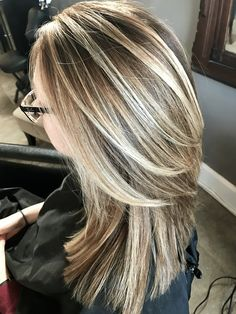 Beautiful cool blonde with beige brown blonde highlights with lowlights, hair highlights, dimensional hair Brown Hair With Blonde Highlights, Hair Color Highlights, Medium Hair Styles, Curly Hair Styles, Pretty Hairstyles, Hairstyle Ideas, Easy Hairstyle, 70s Hair, Cool Blonde