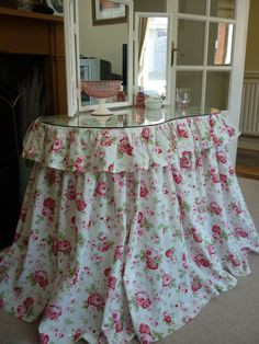 Cath Kidston fabric Kidney Shaped Dressing Table