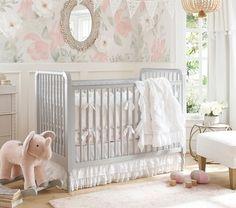 Organic Sadie Ruffle Baby Bedding #pbkids