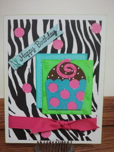 Happy Birthday Cupcake by BitsNPiecesGifts on Etsy, $3.00