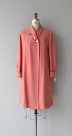 Trois Etoiles coat 1940s wool coat vintage 1940s by DearGolden
