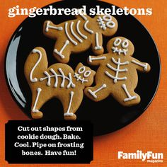 Gingerbread Skeletons: What's the hot costume this year for gingerbread people? Skeletons, of course!