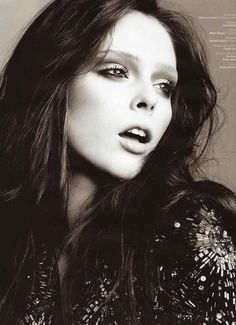 coco rocha. This look like Christina reed- Kevin's wife