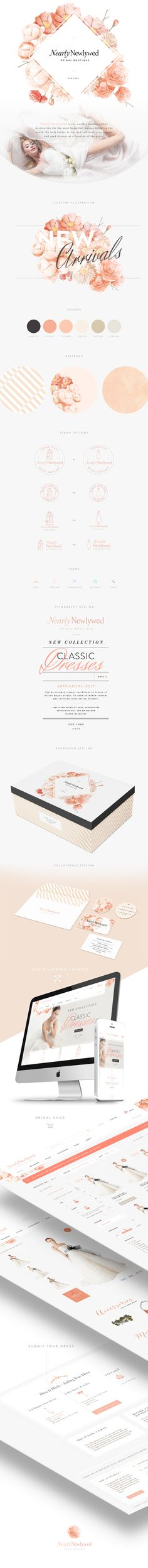 Nearly Newlywed Brand Identity by FloSites Creative Agency (California)