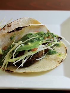 Grilled Portobello Tacos with Salsa Verde Recipe | Vegetarian Times