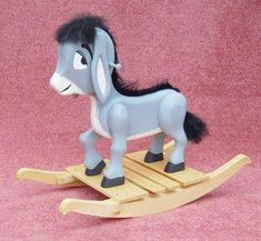 All Child Projects - Donkey Rocker Wood Project Plan Plywood Projects, Small Wood Projects, Kids Ride On Toys, Kids Toys, Rocking Horse Plans, Rocking Horses, Wooden Rocker, Hobby Horse, Shrek