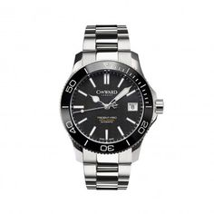 C60 Trident Pro 600, 38mm, Black on Steel Bracelet - Chr. Ward