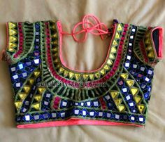Mirrors and Cut Work Blouse | Saree Blouse Patterns