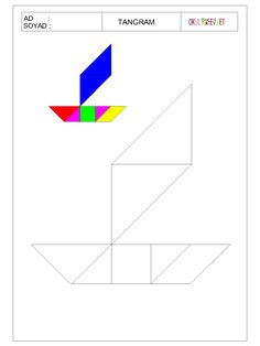 ÇOCUKLAR İÇİN TANGRAM-OKUL ÖNCESİ HERŞEY Tangram, Pattern Blocks, Worksheets, Letters, Preschool, Childhood Education, Activities, Herb, Infant Activities