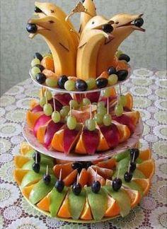 Fruit platter buffet food displays Ideas for 2019 Fruit Appetizers, Fruit Snacks, Fruit Recipes, Appetizers For Party, Fruit Trays, Fruit Buffet, Parties Food, Fruit Fruit, Birthday Appetizers