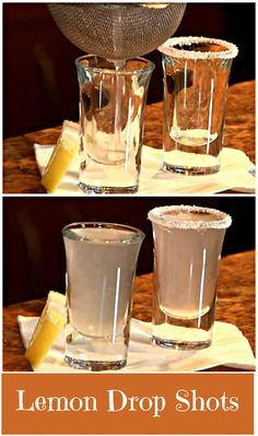 Lemon Drop Shots. This will show you the two classic ways to serve a Lemon Drop shot. http://www.ifood.tv/recipe/lemon-drop