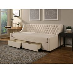 Daybed With Storage, Furniture, Room, Daybed Design, Home, Sofa Design, Full Daybed, Mattress Sizes, Darby Home Co