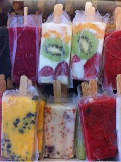 Some spectacular looking locally made ices.