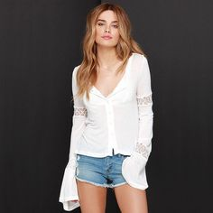 Summer T Shirt Lace Splice Hedging Women Tees Slim Fashion Brand European Style For Casual
