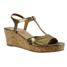 Eve Dior's Golden Colored Synthetic Wedges	 #onlineshopping http://goo.gl/iFoQPK