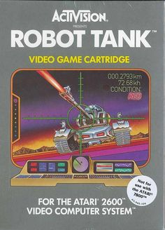 robot tank #gaming #atari #illustration #retro #tank