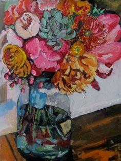 By Georgia Lobo - Flores para o pai de uma amiga - 80 X 60 - óleo sobre tela