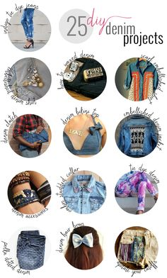 25 DIY Denim Projects to Update Your Fall Wardrobe | http://helloglow.co/25-diy-denim-projects/