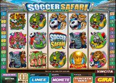 I simpaticissimi animali della savana africana sono gli attori principali della #slot #online Soccer Safari, un gioco che associa la passione per il calcio e l'avventura del safari africano. www.allslotscasino.it