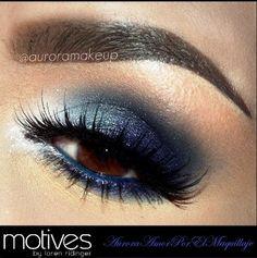 Blue Eyeshadow for Brown Eyes.