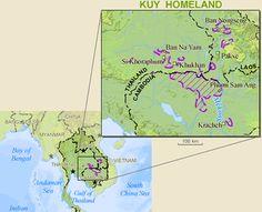 Pray / Kui, Kuay, Suei of Cambodia map
