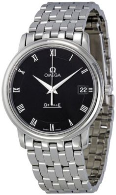 Omega Men's 4510.52 DeVille Co-Axial Black Dial Watch - TimeOnMyHand