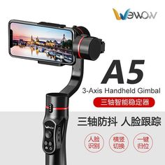 Handheld Gimbal Video Stabilizer Support Face Tracking Gestures Vertical Shooting For Smartphone Gimbal Stabilizer A5, Stability, Smartphone, Track, Graphic Design, Photography, Photograph, Runway, Fotografie