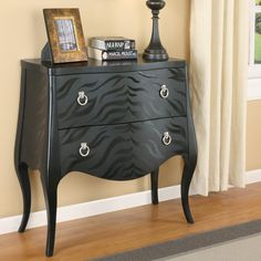 Elegant Wildon Home Zebra Pattern Console Table Good Looking