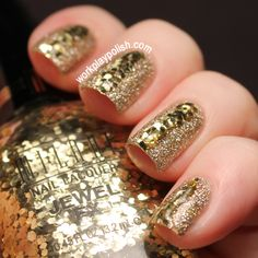 Golden nails