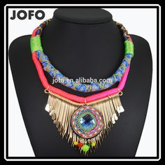 Rope Chain Big Africa Style Tassel Necklace Ethnic Style Fashion Jewelry