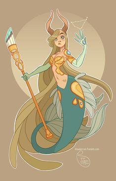 Character Design - Capricorn by MeoMai on DeviantArt Character Design Cartoon, Character Design References, Character Concept, Character Art, Art Zodiaque, Art Mignon, Zodiac Art, Zodiac Signs, Animation