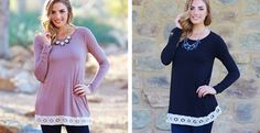 This basic long sleeve top is perfect for any look this chilly season thanks to its versatile hue that pairs perfectly with any bottom. It also features a crochet border that gives this top a feminine detail that we adore. Throw on a delicate necklace and a basic cardigan for the cooler days this season.95% Rayon 5% SpandexHand Wash Cold, Hang DrySmall(0-4)Medium(6-8)Large(10-12)