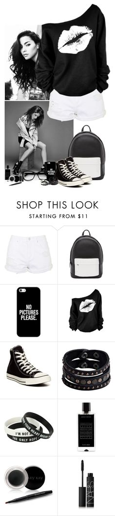 """Black & White"" by kerry6590 ❤ liked on Polyvore featuring Topshop, PB 0110, Casetify, Converse, Replay, Agonist, Mary Kay, NARS Cosmetics, women's clothing and women's fashion"