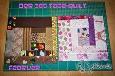 Zwischenstand Februar des 365-Tage-Quilt