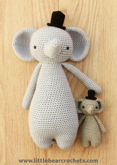 Amigurumi Crochet Mini Elephant Pattern by Little Bear Crochets Crochet Elephant Pattern, Stuffed Toys Patterns, Crochet Patterns Amigurumi, Crochet Afghans, Crochet Baby, Crochet Gifts, Crochet Hooks, Elephant Blanket, Beautiful Crochet