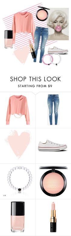 """""""Poppin pink"""" by alexispacheco ❤ liked on Polyvore featuring Ted Baker, Converse, MAC Cosmetics, Chanel, Bobbi Brown Cosmetics, cute, contest, Pink, converse and Bubblegum"""