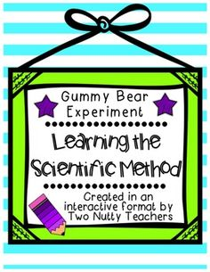 Your kids will love putting their knowledge of the Scientific Method to work as they conduct a Gummy Bear experiment. Scientific Method Experiments, Elementary Science Experiments, Science Fair Projects, Science Lessons, Science Ideas, Science Fun, Science Resources, Teaching Resources, Teaching Ideas