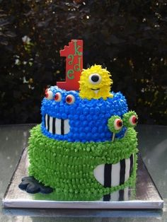 Monster 1st Birthday By ColeAlayne on CakeCentral.com